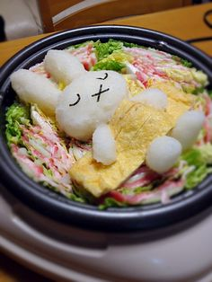 Sleepy bunny bento dish       #food #bento