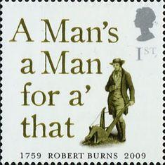 Literary Stamps: Burns, Robert – Great poem too! Robert Burns, Himmelsscheibe Von Nebra, Uk Stamps, Royal Mail Postage, Great Poems, Postage Stamp Art, Mail Art, Stamp Collecting, Scotland