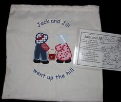 Story Sack Bag Nursery Rhyme Sack Bag Jack and Jill Educational Resource EYFS
