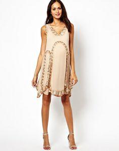 ASOS Maternity Flapper Dress With Embellishment
