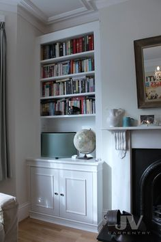 23 Alcove Shelving Ideas for your Living room | JV Carpentry Alcove Storage, Alcove Shelving, Shelving Ideas, Bedroom Storage, Recessed Shelves, Mounted Shelves, Shelving Units, Storage Shelves, Storage Ideas