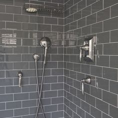 White Subway Tile With Dark Grout Charcoal Floors Dream