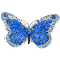 SAPPHIRE electric blue :: Blue Butterfly Pin