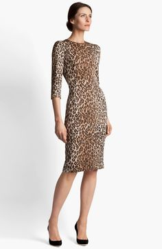 Dolce Leopard Print Dress | Nordstrom  I would wear this dress to DEATH, but I'm pretty sure I can't afford it.  :(