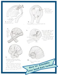 how to assemble knit turban