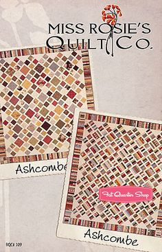 Ashcombe Quilt Pattern Miss Rosie's Quilt Company - Fat Quarter Shop