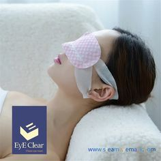 Steam sleep eye mask Soothes and refreshes tired eyes with therapeutic heat. Heats up to a comfortable temperature of 105ºF generating warm steam to ease tension in surrounding eye muscles. Easy to carry and use while traveling, at work, or before sleep. Provides relief from long hours at the computer, dry eye symptoms, and dark circles.