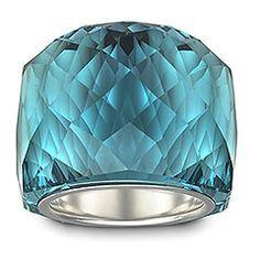 #SS12 Collection: #Swarovski's stunning Nirvana Indicolite Ring gleaming in fresh blue tones