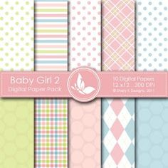 free New Baby Boy Girl Digital Packs