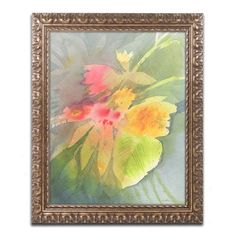 """Trademark Art """"Through Darkness Brightly"""" by Sheila Golden Framed Painting Print Size: 14"""" H x 11"""" W x 0.5"""" D"""