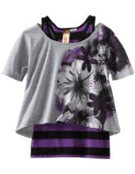 Spoiled Girls 7-16 Pop Over Floral Stripe Tank Top  $26.00
