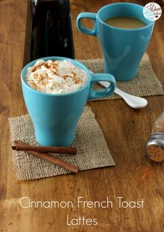 Cinnamon French Toast Lattes on MyRecipeMagic.com