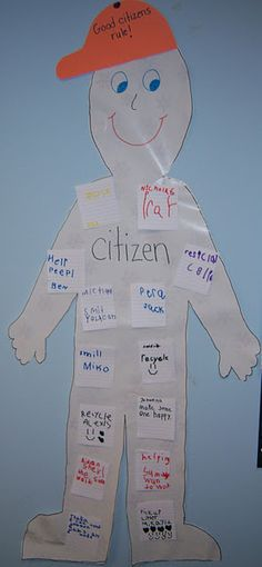 This could be used to help children think about how they can be good citizens/classmates.