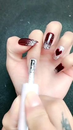 Simple nails art design video Tutorials Compilation Part 1 Nail Art Designs Videos, Nail Art Videos, Simple Nail Art Designs, Nail Art Hacks, Nail Art Diy, Easy Nail Art, Nude Nails, Gel Nails, Nail Polish