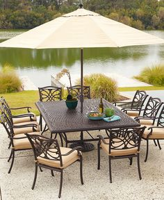 Kingsley Outdoor Patio Furniture Dining Sets & Pieces. $1,699.00-$6,999.00. #home decor #dining #furniture #patio #outdoor