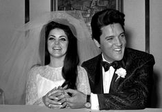 Mr & Mrs Presley, on their wedding day. Awesome pic