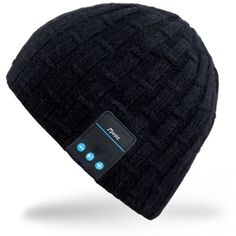 Mydeal Washable Bluetooth Music Hat Winter Warm Soft Knitted Trendy Short Skully Beanie Cap W/ Wireless Headphone Headset Earphone Mic Hands Free for Excrise Gym Sports Fitness Running Skiing – Black Wireless Headphones Review, Wireless Headphones For Running, Bluetooth, Audiophile Headphones, Waterproof Headphones, New Headphones, Headset, Best Noise Cancelling Earbuds, Thing 1