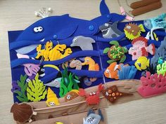UNDER the SEA Montessori book for Toddler with Magnetic fishing game and Felt sea animals, Educational busy book, Christmas gift kids - Kinderspiele Toddler Books, Toddler Gifts, Felt Books, Quiet Books, Sticky Roller, Montessori Books, Christmas Gift For You, Christening Gifts, Busy Book