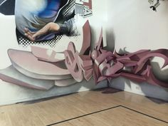 """Portuguese street artist Odeith produces mind blowing anamorphic graffiti artworks, creating the illusion pop-out letters. """"I have always had a passion for artistic Graffiti Piece, Graffiti Artwork, Graffiti Styles, Graffiti Lettering, Anamorphic, 3d Letters, Street Artists, Optical Illusions, Mind Blown"""