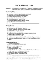 504 plans on pinterest case manager goals and objectives and adhd