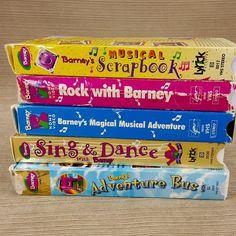 Barney Dinosaur LOT 5 VHS Tapes Sing Dance Magical Adventure Bus Rock Scrapbook