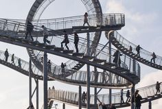 Tiger and Turtle Rollercoaster walkway - Duisberg Germany. Great architecture!