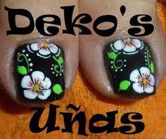 Resultado de imagen para uñas deko's 2014 Pedicure Designs, Toe Nail Designs, Nail Polish Designs, Toe Nail Art, Nail Art Diy, Toe Nails, Spring Nails, Summer Nails, Cute Pedicures
