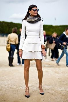 I cannot get over how much I absolutely adore this scalloped Valentino dress on the ever-fabulous Italian Vogue editor, Giovanna Battaglia. Although, this dress may be a few years old (from the Fall 2010 collection)