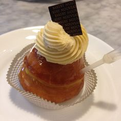 Baba Savarin (Enriched Dough Soaked in Rum Syrup, Vanilla Pastry Cream, Caramel Whipped Cream) - at Bakery Nouveau