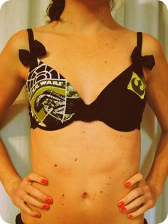 Custom Made Star Wars Bow Bra by HollyGrothues on Etsy, $50.00  www.etsy.com/shop/hollygrothues