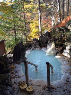 le onsen en plus avec un rotenburo (bain extérieur) avec la vue sur la montagne... le bonheur à l'état pur.