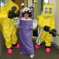 Homemade monsters inc costumes by me for my