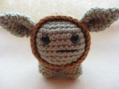 How cute is this crocheted Yoda?