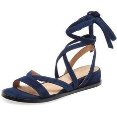 Alex + Alex Women's Lace-Up Gladiator Sandal - Dark Blue/Navy - Size 5 ($109) ❤ liked on Polyvore featuring shoes, sandals, roman sandals, navy gladiator sandals, navy sandals, ankle wrap sandals and navy blue sandals