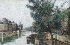 Constantin Kluge Painting On the Seine, Paris Impressionist Paintings, Oil On Canvas, Paris, Gallery, Montmartre Paris, Roof Rack, Paris France