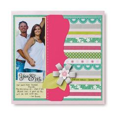 You and Me Layout Hi-lighting Paper Ribbon Scrapbook Page Idea from Creative Memories  #scrapbooking    http://www.creativememories.com