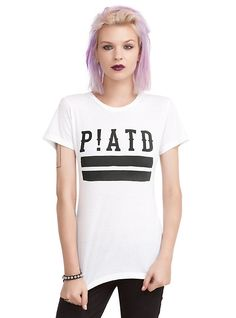 Panic! At The Disco P!ATD Logo Girls T-Shirt, WHITE