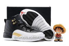 "Find Kids Air Jordan 12 ""Wings"" Black/Metallic Gold-White 2016 For Sale online or in Footlocker. Shop Top Brands and the latest styles Kids Air Jordan 12 ""Wings"" Black/Metallic Gold-White 2016 For Sale of at Footlocker. Jordan Shoes For Kids, Michael Jordan Shoes, Air Jordan Shoes, Cheap Jordans, New Jordans Shoes, Nike Air Jordans, Retro Jordans, Shoes Sneakers, Cheap Sneakers"