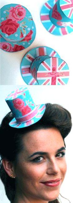 Mini top Hat DIY Union Jack printable template
