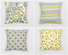 Pillow covers. Great for switching up looks on a budget.
