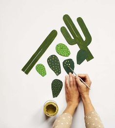1 - Paper succulent tutorial by Craftberry Bush 2 - Sonia Poli 3 - Taylor Stone 4 - Forever Cactus - workshop with Beci Orpin Here is just an example of her creativity but there's heaps more to see.