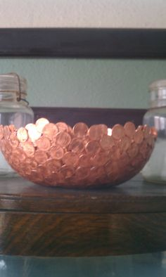 Copper Bowl Made Of Pennies By Unionstreetartifacts On Etsy, $200.00