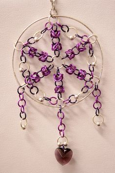 Chainmaille Dreamcatcher, funky and unique- the perfect gift. £12.00, via Etsy.