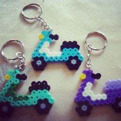 Scooter keychains perler bead