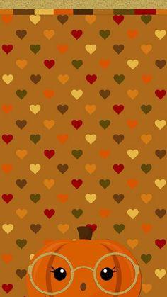 hearts, pumpkin, and wallpaper image