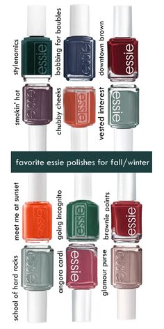 favorite essie polishes for fall/winter '13