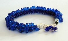 Pop on Top Cobalt Bracelet available at Ring by Ring Designs. $50