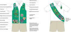 Junior Girl Scout Vest Layout.