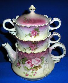 Lefton Heavenly Rose stack set