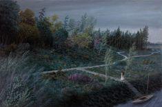 Aron Wiesenfeld :  Bride , oil on canvas, 26.25 x 39.5 in, 2014